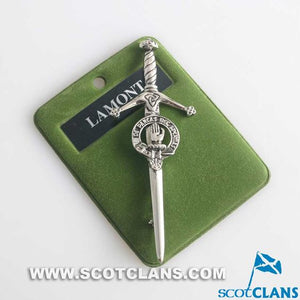 Clan Crest Pewter Kilt Pin with Lamont Crest