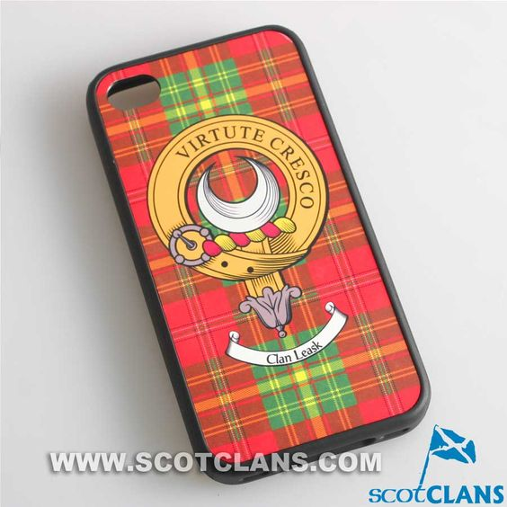 Leask Tartan and Clan Crest iPhone Rubber Case - 4 - 7