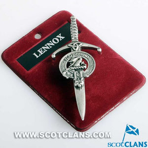 Clan Crest Pewter Kilt Pin with Lennox Crest
