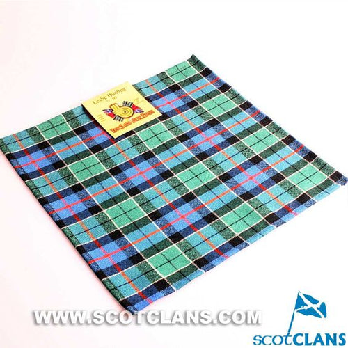 Wool Tartan Pocket Square in Leslie Hunting Ancient Tartan