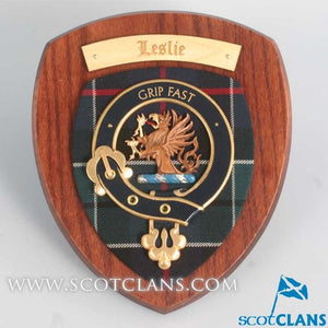 Leslie Clan Crest Plaque