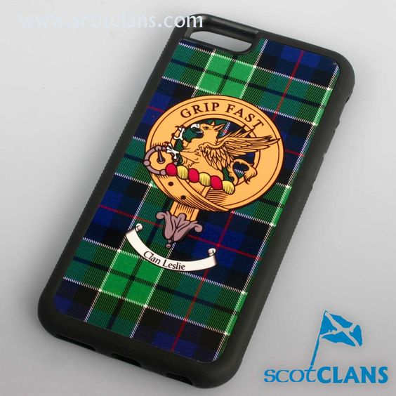 Leslie Tartan and Clan Crest iPhone Rubber Case - 4 - 7