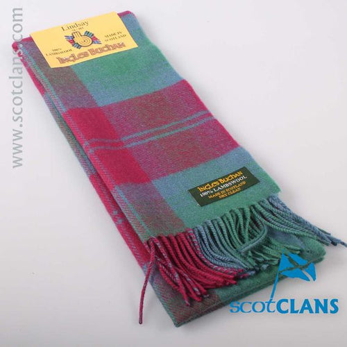 Lambswool Scarf in Lindsay Ancient Tartan