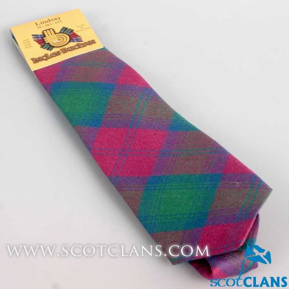Pure Wool Tie in Lindsay Ancient Tartan