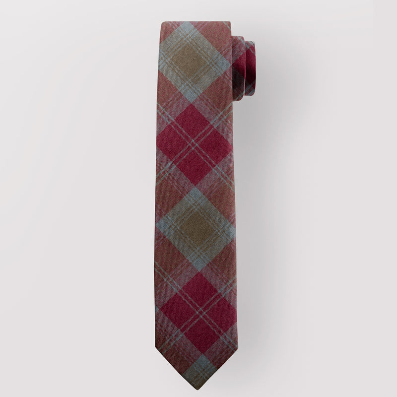 Pure Wool Tie in Lindsay Weathered Tartan.