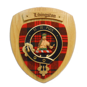 Livingstone Clan Crest Plaque