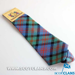 Pure Wool Tie in Logan Ancient Tartan