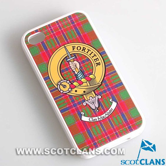 MacAlister Tartan and Clan Crest iPhone Rubber Case - 4 - 7