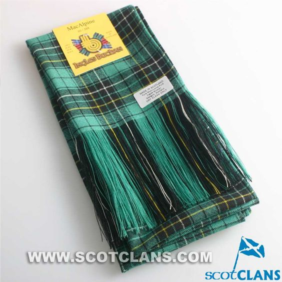 Wool Tartan Full Length Sash in MacAlpine Ancient Tartan