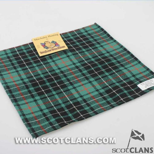 Wool Tartan Pocket Square in MacAulay Hunting Ancient Tartan