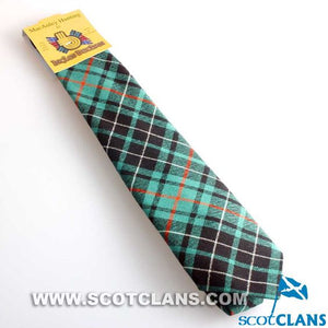 Pure Wool Tie in MacAulay Hunting Ancient Tartan