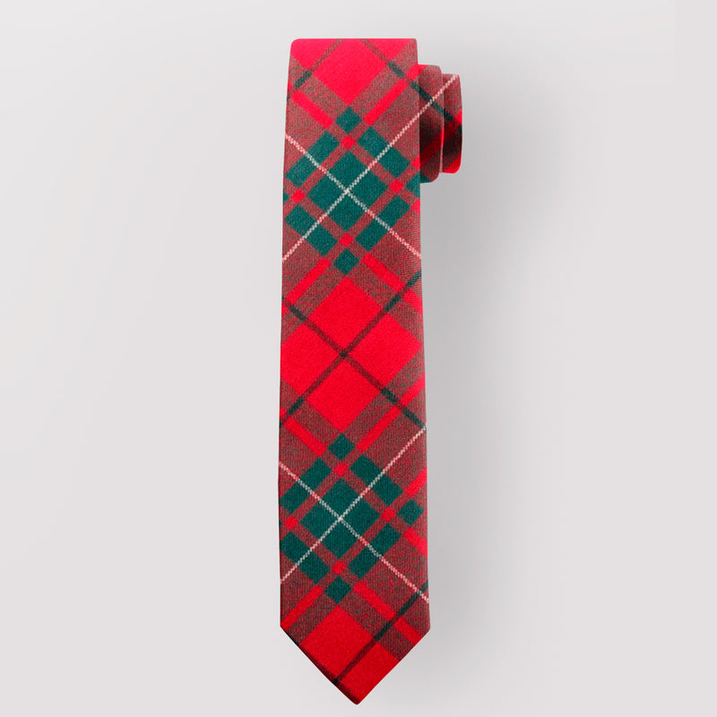 Pure Wool Tie in MacAulay Red Modern Tartan