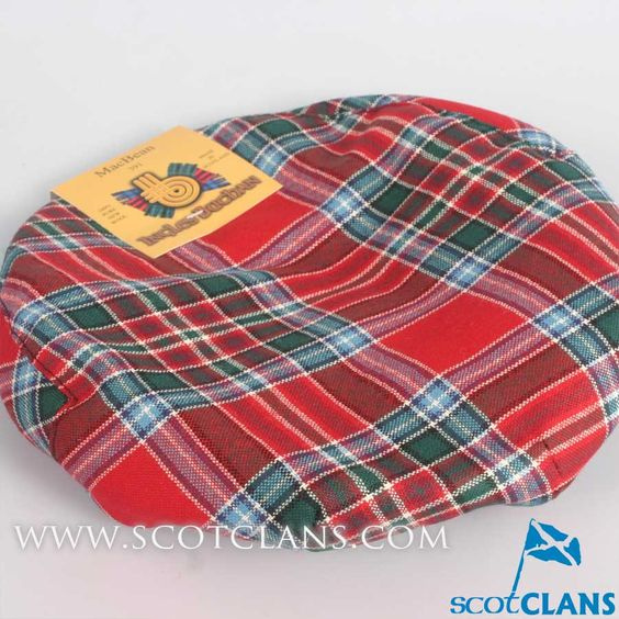 Pure Wool Golf Cap in MacBean Tartan