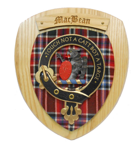 MacBean Clan Crest Plaque