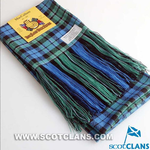 Wool Tartan Full Length Sash in MacCallum Ancient Tartan