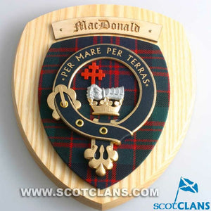 MacDonald Clan Crest Plaque