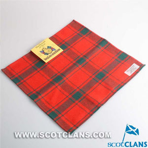 Wool Tartan Pocket Square in MacDonald of Sleat Tartan