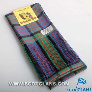 Wool Tartan Full Length Sash in MacDonald Ancient Tartan