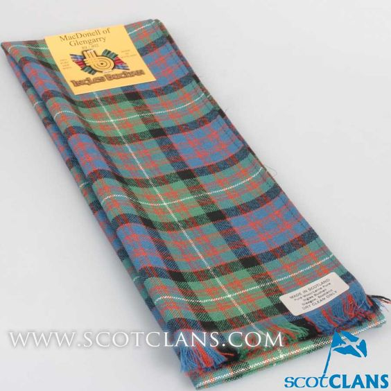Wool Scarf in MacDonald of Glengarry Ancient Tartan