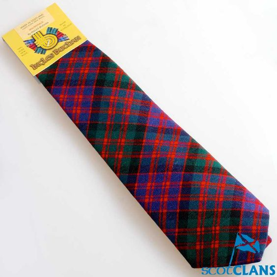 Pure Wool Tie in MacDonald Modern Tartan