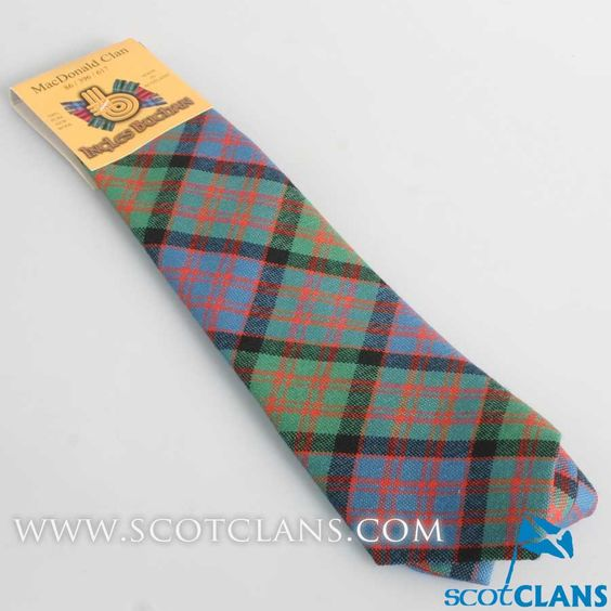 Pure Wool Tie in MacDonald Ancient Tartan
