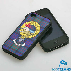 MacDonald Tartan and Clan Crest iPhone Rubber Case - 4 - 7