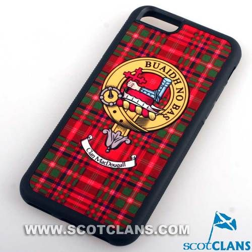 MacDougall Tartan and Clan Crest iPhone Rubber Case - 4 - 7