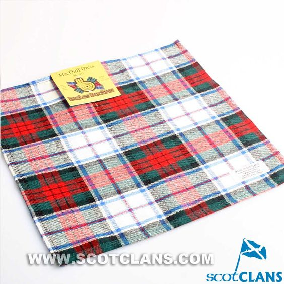 Wool Tartan Pocket Square in MacDuff Dress Modern Tartan