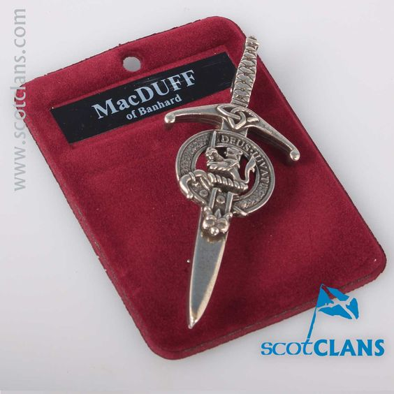 Clan Crest Pewter Kilt Pin with MacDuff Crest