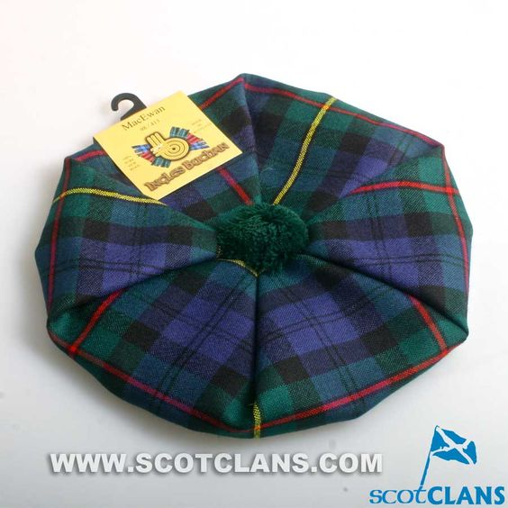 Pure Wool Golf Cap in MacEwan Modern Tartan