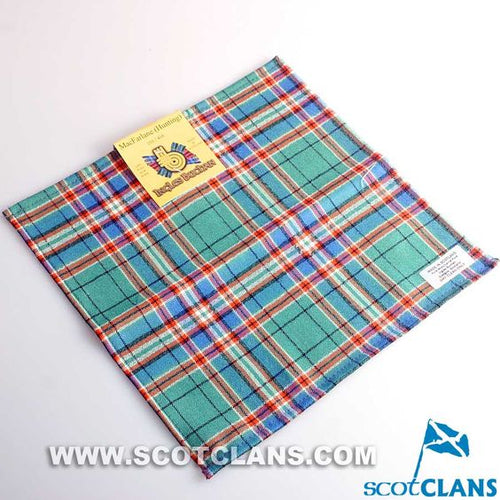 Wool Tartan Pocket Square in MacFarlane Hunting Ancient Tartan
