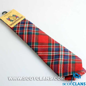 Pure Wool Tie in MacFarlane Red Modern Tartan