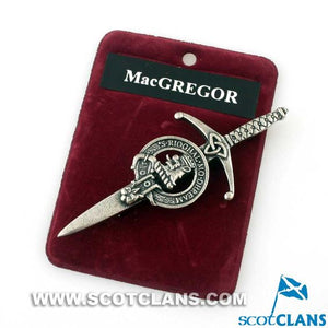 Clan Crest Pewter Kilt Pin with MacGregor Crest
