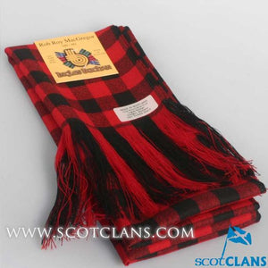 Wool Tartan Full Length Sash in Rob Roy MacGregor Modern Tartan