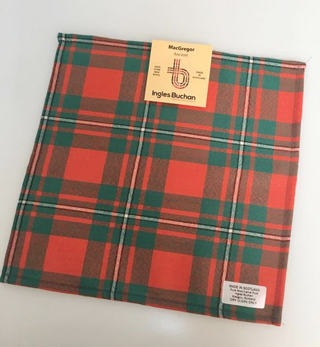 Wool Tartan Pocket Square in MacGregor Ancient Tartan