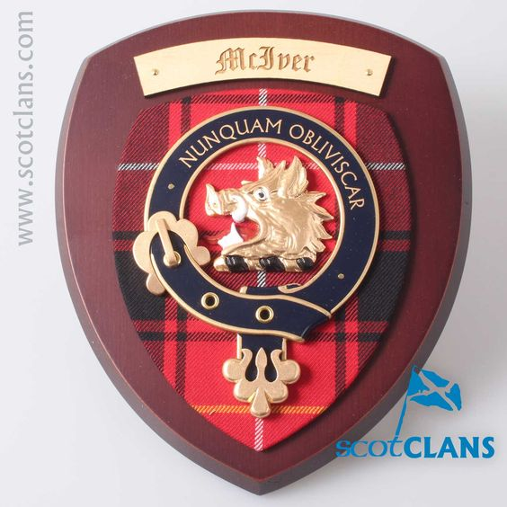 MacIver Clan Crest Plaque