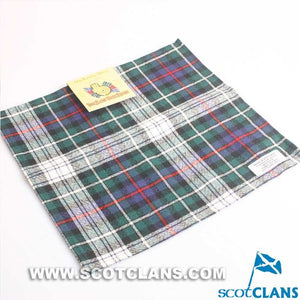 Wool Tartan Pocket Square in MacKenzie Dress Tartan