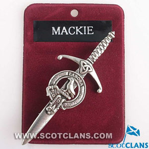 Clan Crest Pewter Kilt Pin with MacKie Crest