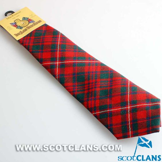 Pure Wool Tie in MacKinnon Modern Tartan