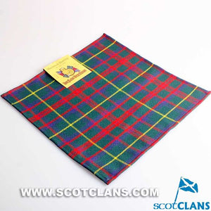 Wool Tartan Pocket Square in MacKintosh Hunting Modern Tartan