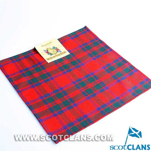 Wool Tartan Pocket Square in MacKintosh Modern Tartan