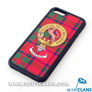 MacKintosh Tartan and Clan Crest iPhone Rubber Case - 4 - 7