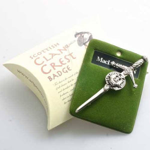 Clan Crest Pewter Kilt Pin with MacLachlan Crest