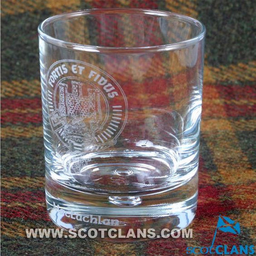 Clan Crest Whisky Glass with MacLachlan Crest