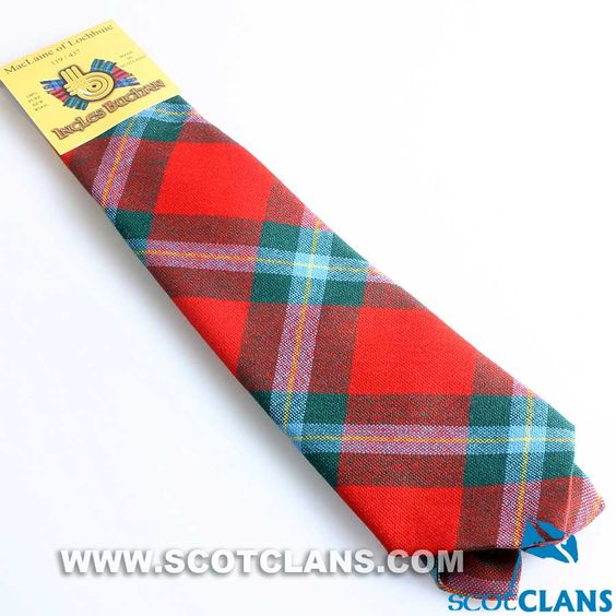 Pure Wool Tie in MacLaine of Lochbuie Modern Tartan