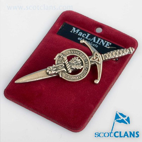 Clan Crest Pewter Kilt Pin with MacLaine Crest