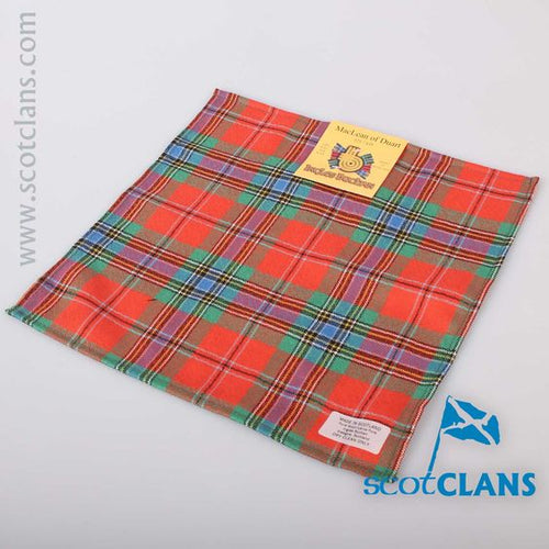 Wool Tartan Pocket Square in MacLean Ancient Tartan