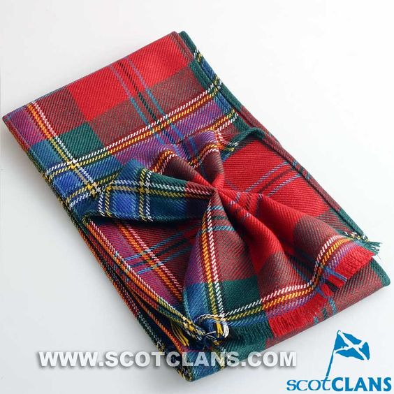 Wool Mini Sash in MacLean of Duart Tartan