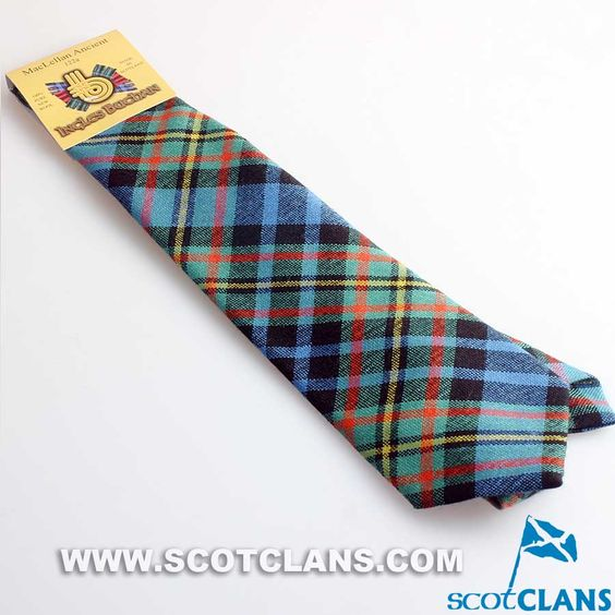 Pure Wool Tie in MacLellan Ancient Tartan