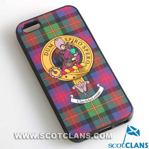 MacLennan Tartan and Clan Crest iPhone Rubber Case - 4 - 7